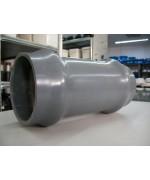 ПВЦ (PVC) канализационна муфа ф110 двойно проходна